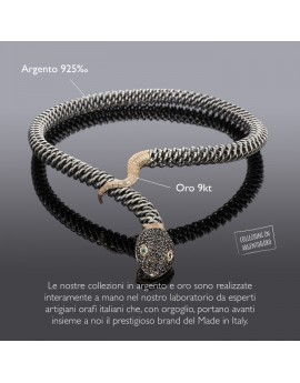 Medievale serpente collana